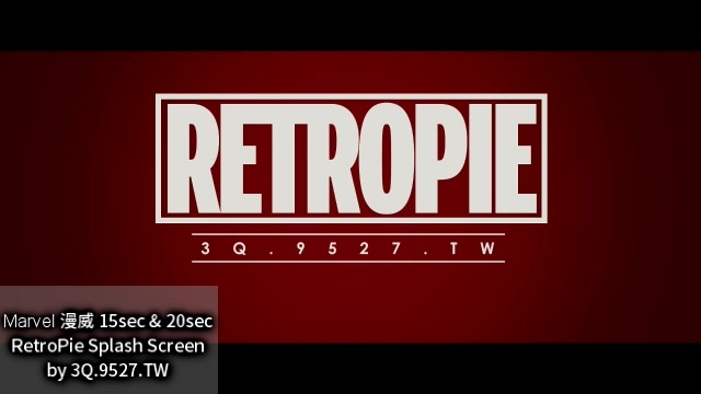 RetroPie Splashscreen Marvel Intro 15sec